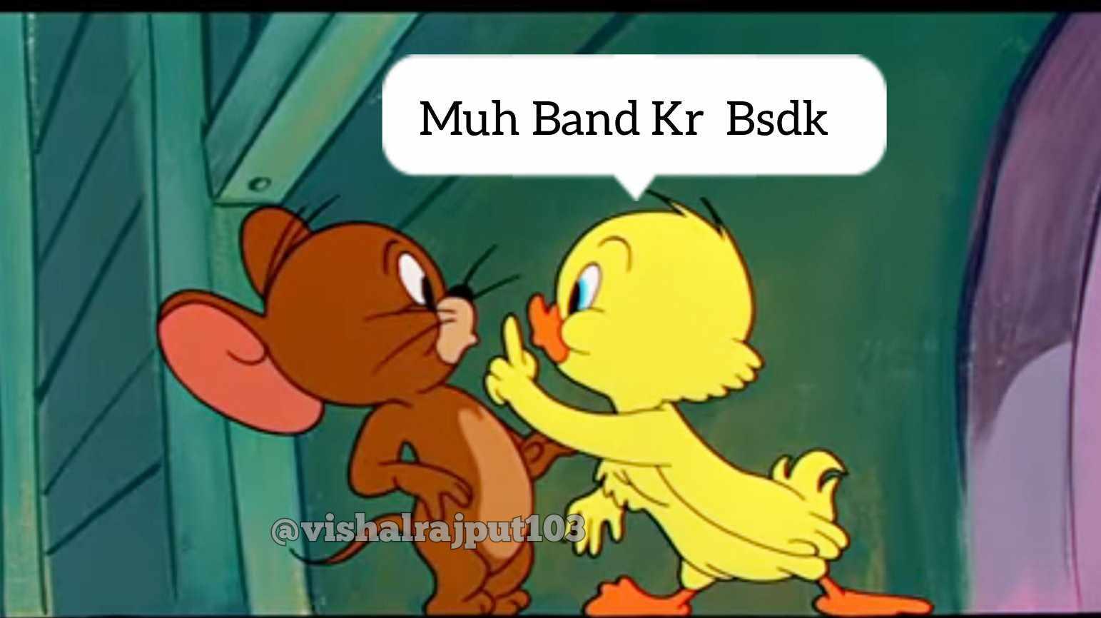 jerry and duck muh band kar meme template