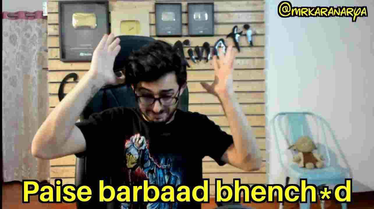 paise barbaad bc carry minati meme template