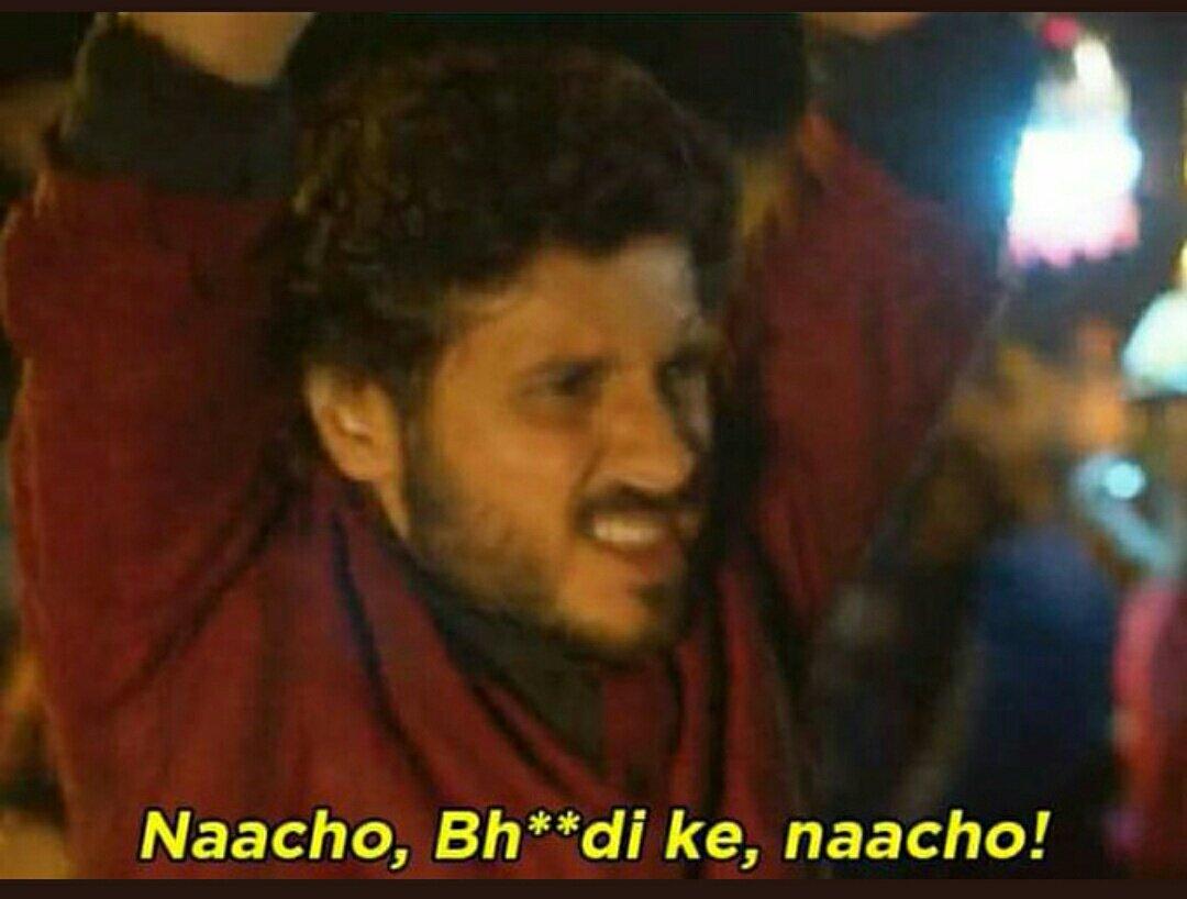 nacho bhosdike nacho munna bhaiya mirzapur meme template