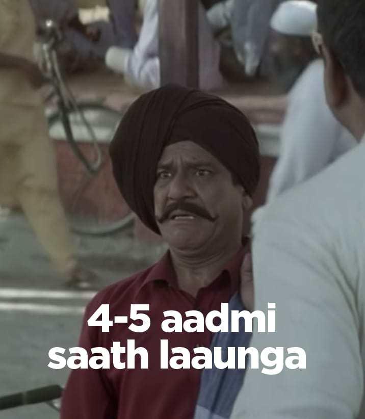 4 5 admi sath launga hera pheri meme template
