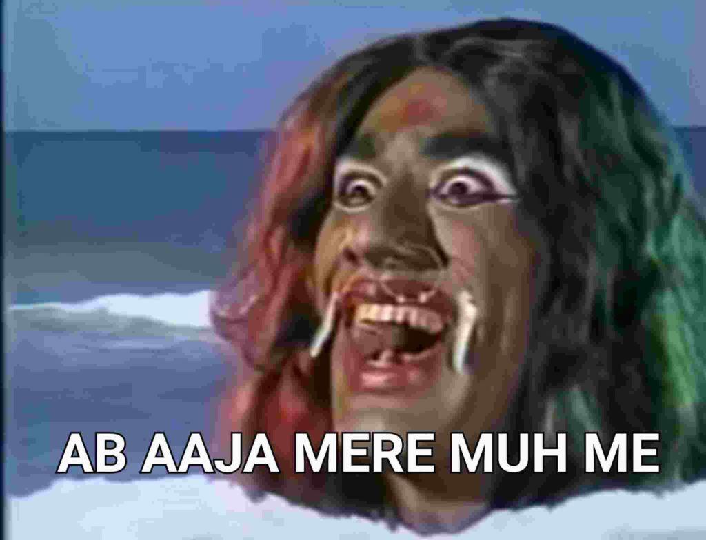 ab aaja mere muh mein ramayan meme template