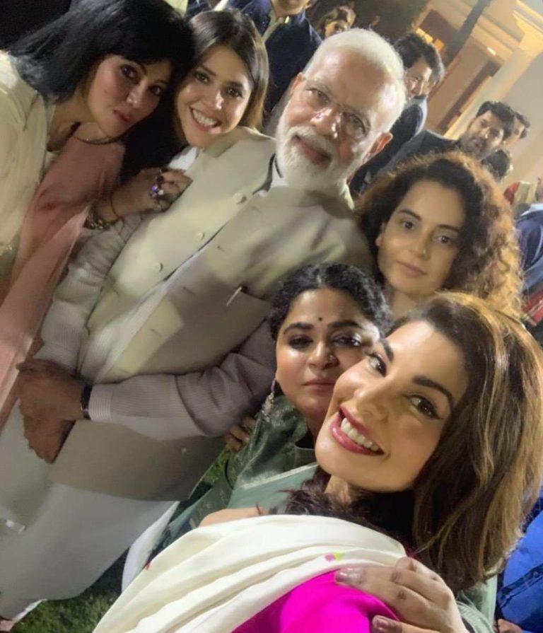 Modiji with actress meme template politics