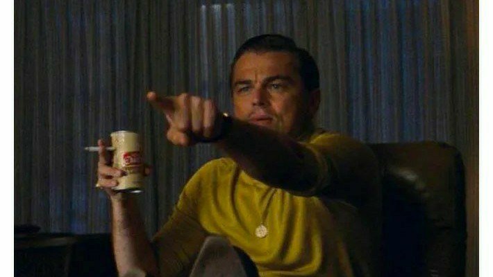 Leonardo di caprio pointing towards meme template