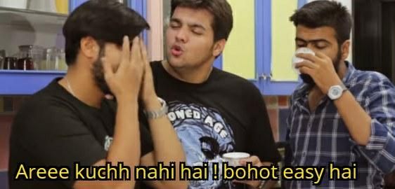 Aashish chanchlani kuch nahi hai bohot easy hai meme template