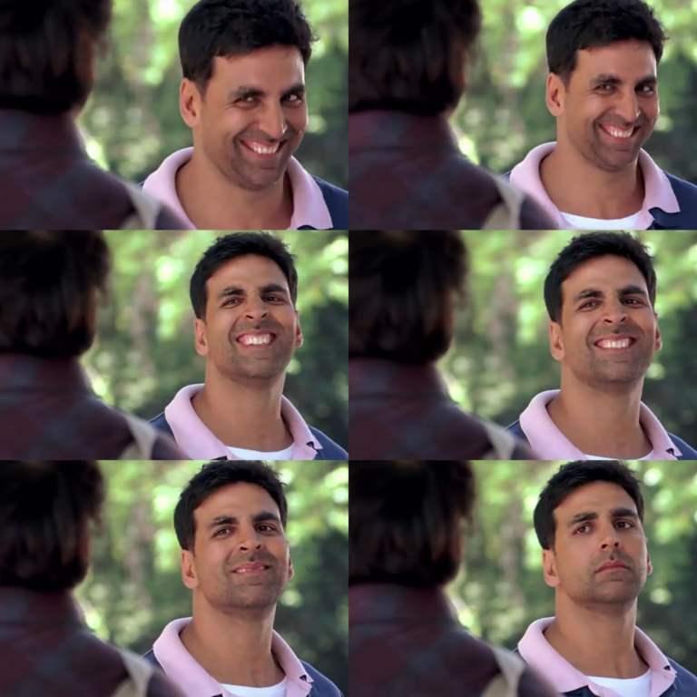 akshay kumar making faces meme template