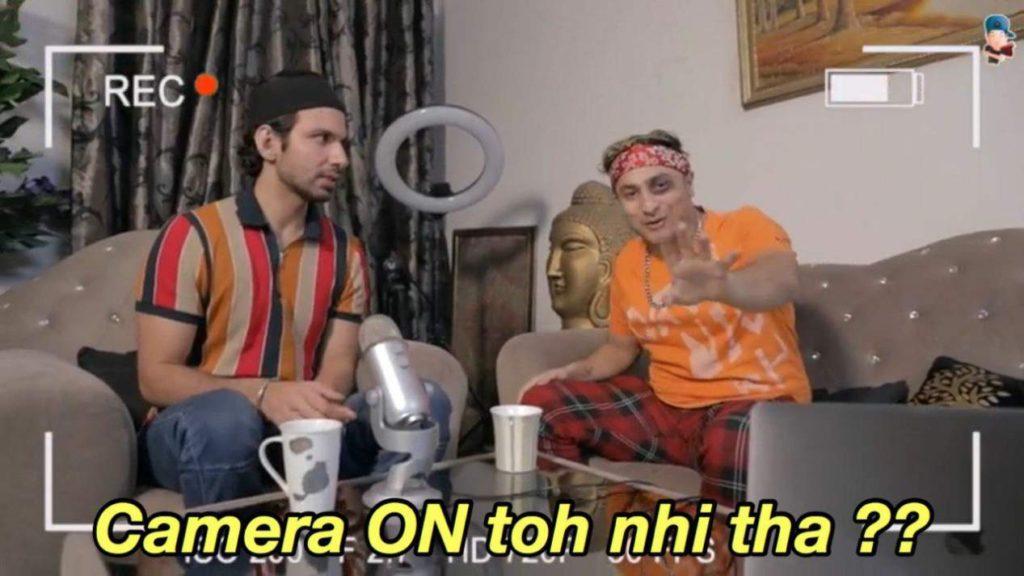 camera on toh nahi tha harsh beniwal meme
