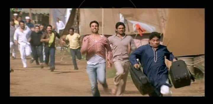 johny running with bags hera pheri meme template