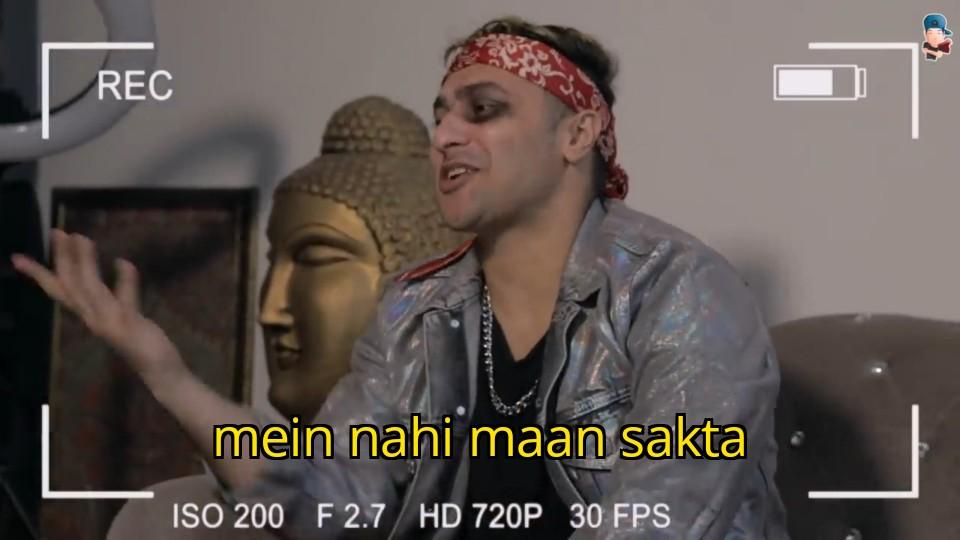 mein nahi maan sakta harsh beniwal meme template
