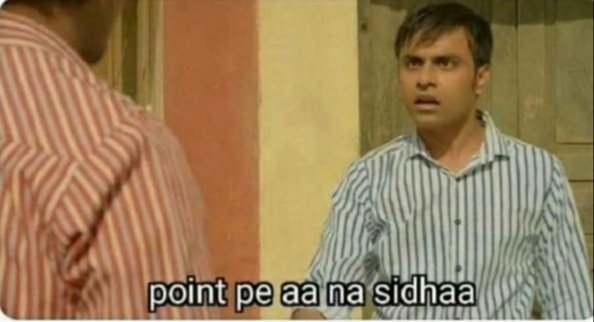 point pe ana sidha jeetu bhaiya panchayat meme template