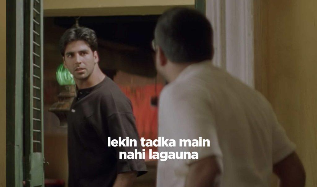 tadka main nahi lagaunga Akshay Kumar hera pheri
