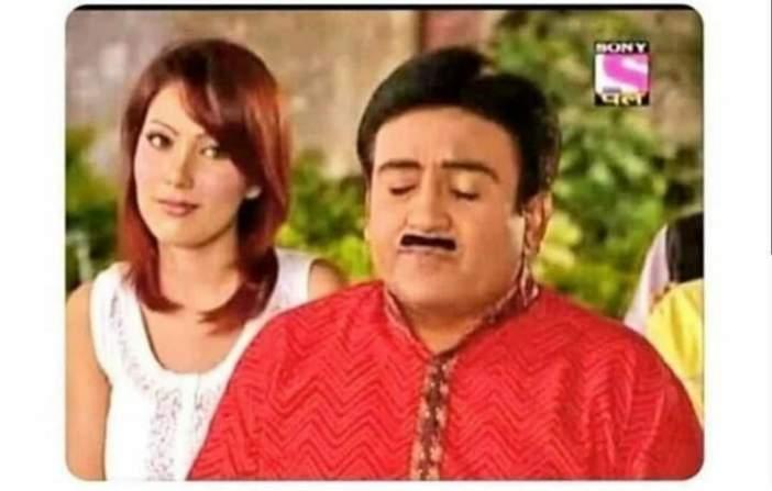 Babita ji looking at jetha meme