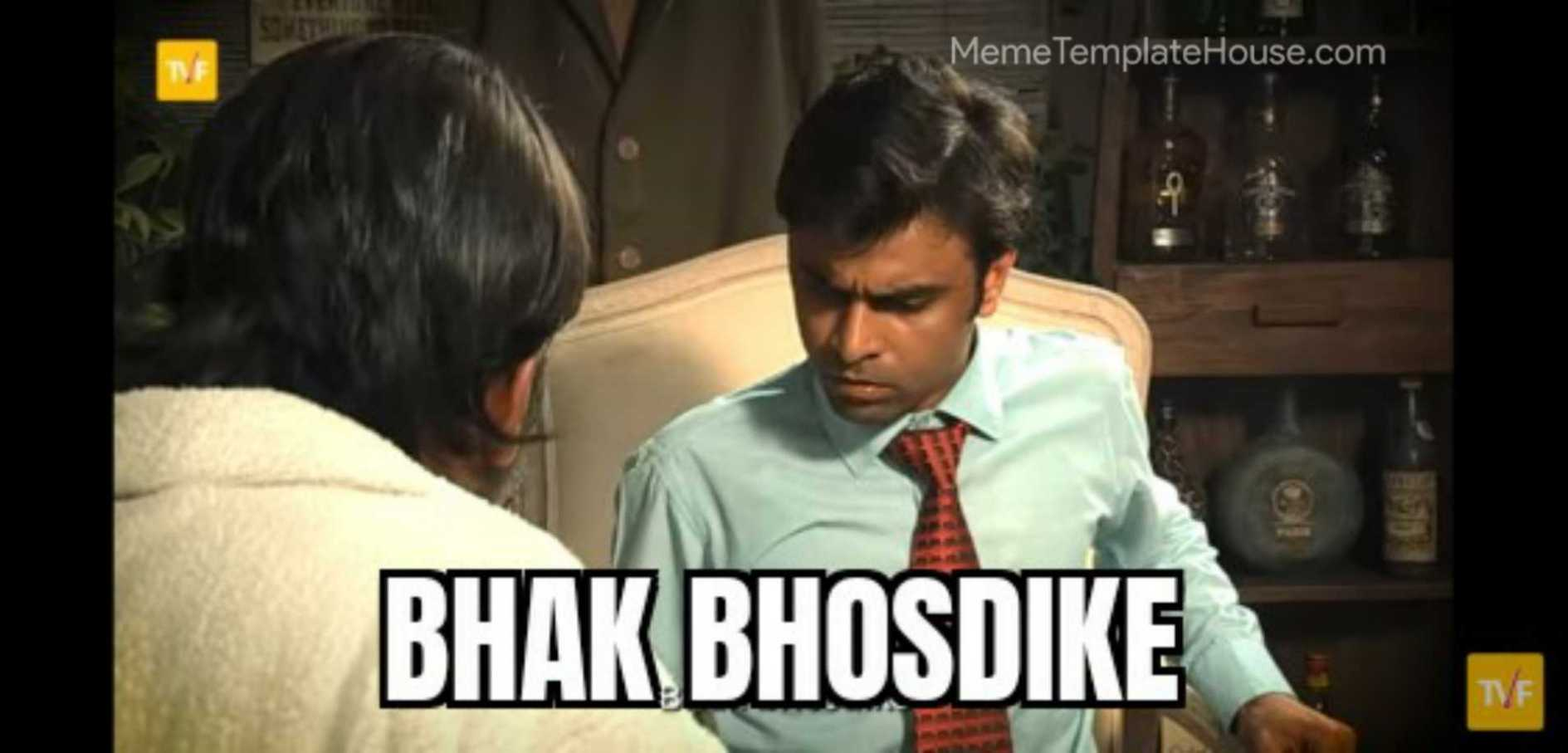 Bhak bhosdike jeetu bhaiya tvf meme template