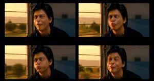 Shahrukh Khan making weird faces in train chennai express meme templates