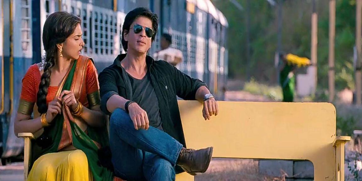 Shahrukh Khan near vs far sitting scene chennai express