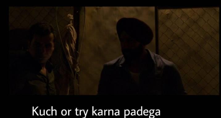 kuch or try karna padega sacred games meme template