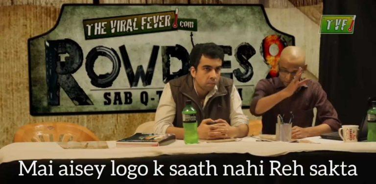 mai ese logo ke sath nahi reh skta tvf rowdies meme templates