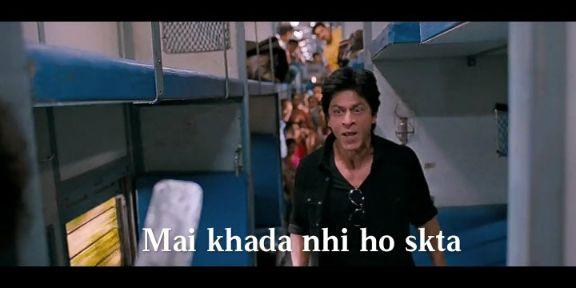 main khada nahi ho skta Shahrukh Khan chennai express meme templates
