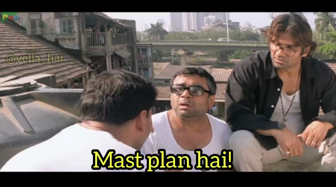 mast plan hai babu rao hera pheri indian meme template