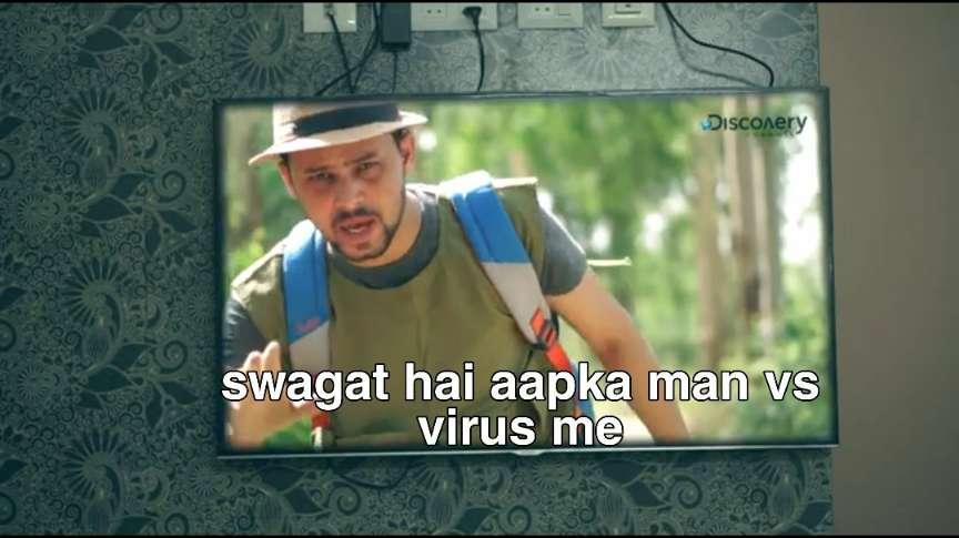 swagat hai apka man vs virus mein round 2 hell meme template