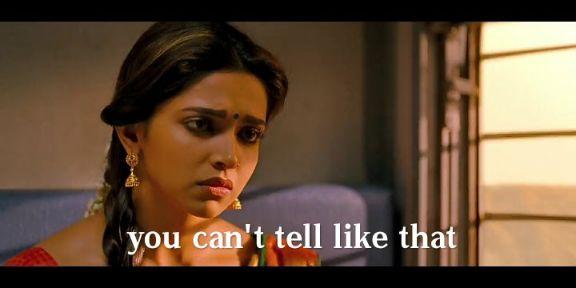 you cant tell like this deepika padukone Chennai express meme template