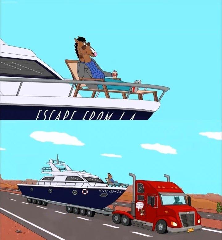 Bojack On His Boat