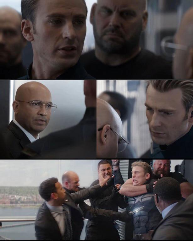 Captain America Elevator Fight Dad Joke
