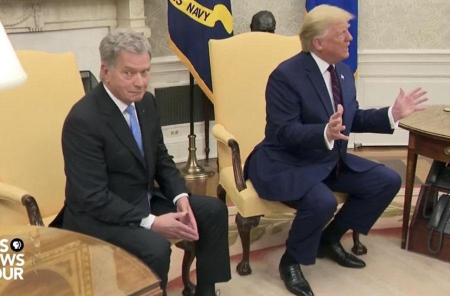 Finnish President Next to Trump