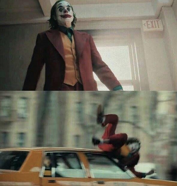 Joker Hit By Car meme 2