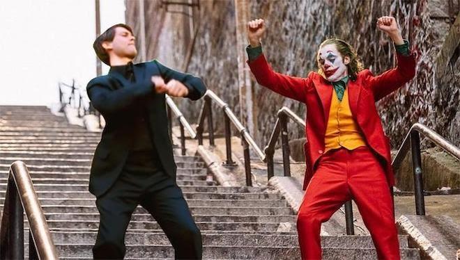 Joker and Peter Parker Dancing