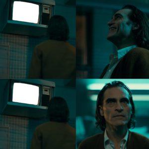 Joker Looks At TV