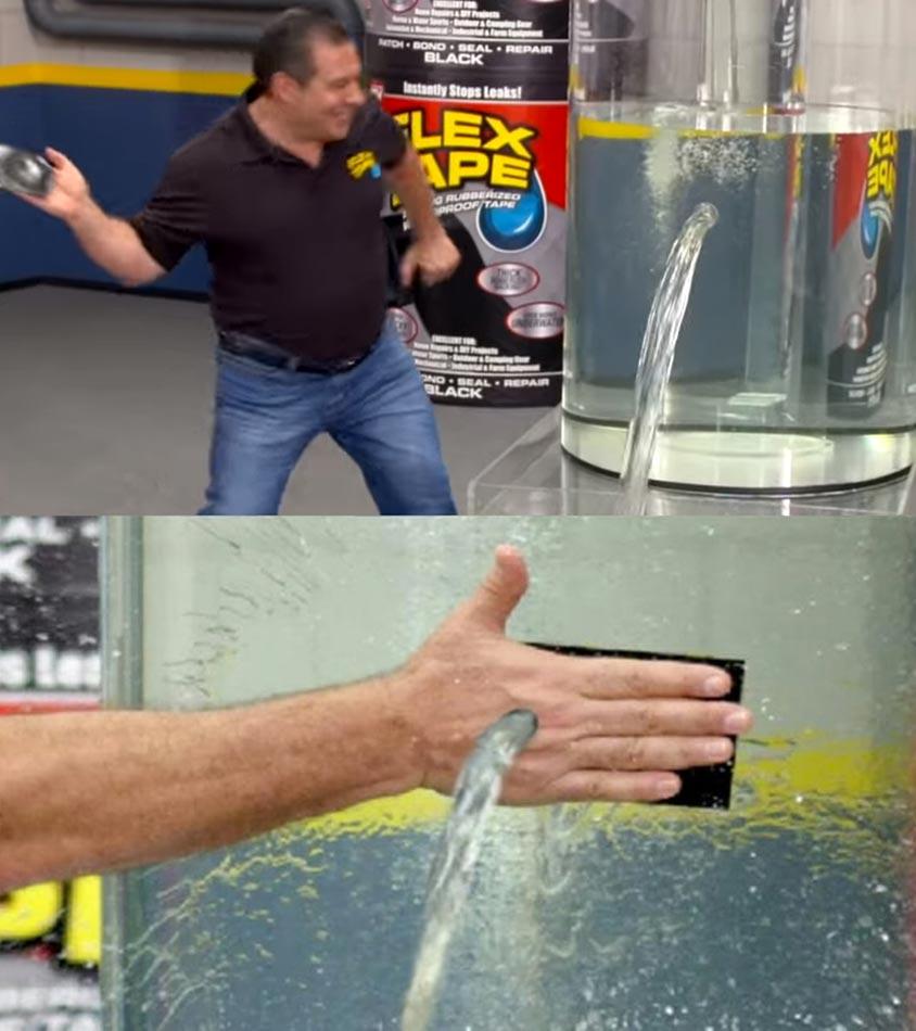 Phil Swift Slaps On Flex Tape Leak
