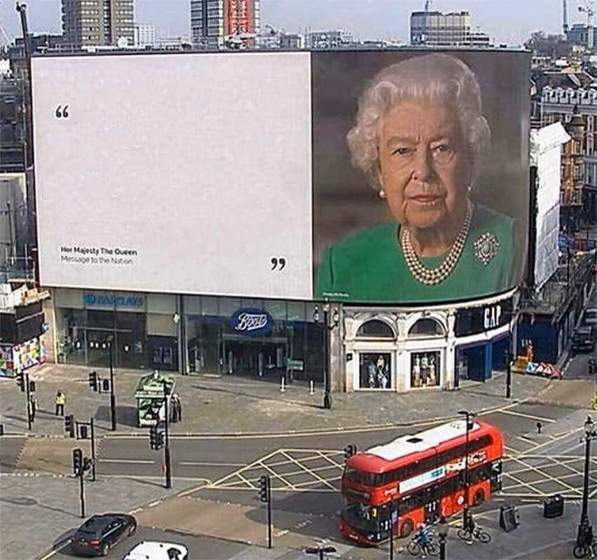 Queen Elizabeth On A Billboard
