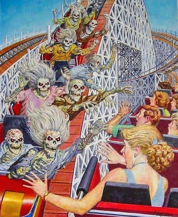 Skeleton Rollercoaster High Five