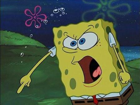 SpongeBob yelling meme template