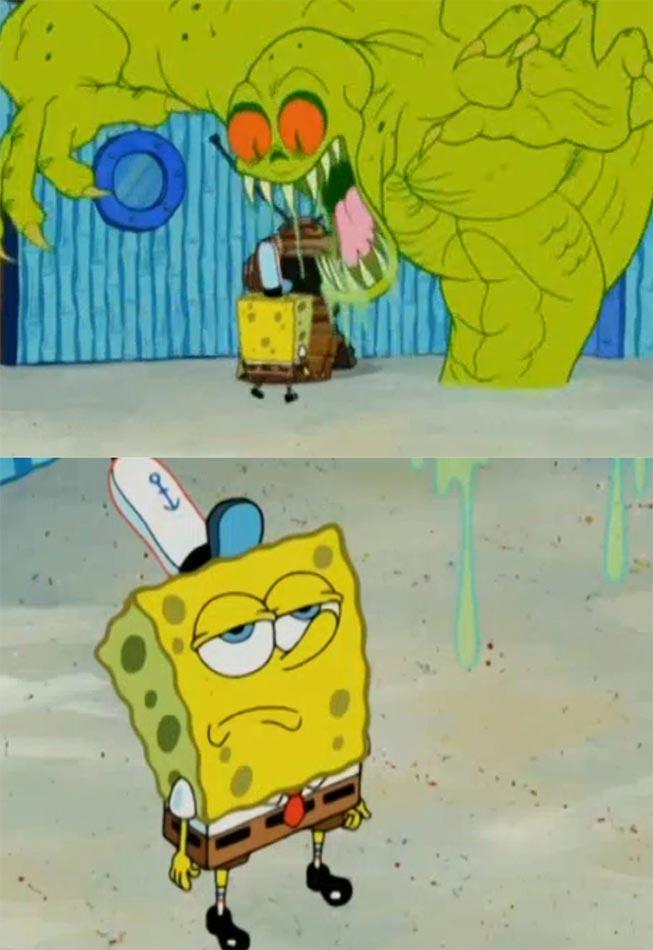 Spongebob Not Scared of The Flying Dutchman