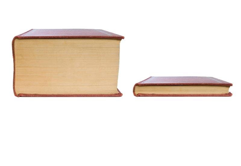 Thick Book vs Thin Book