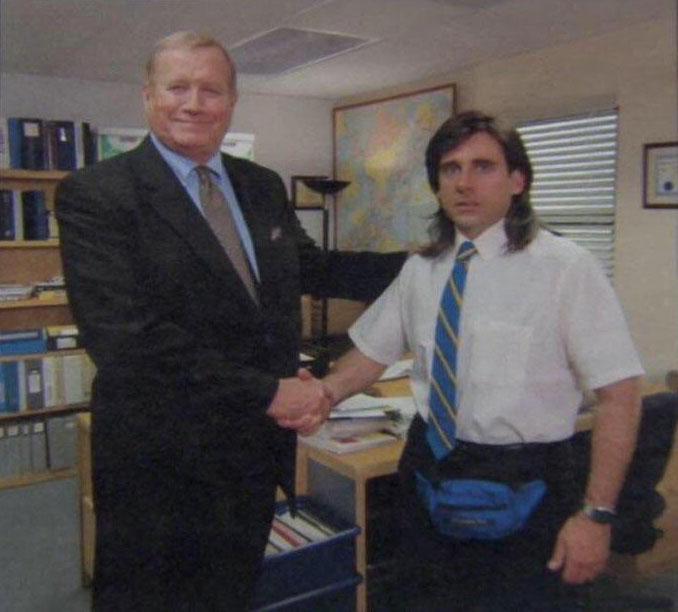 Young Michael Scott Shaking Ed Trucks Hand