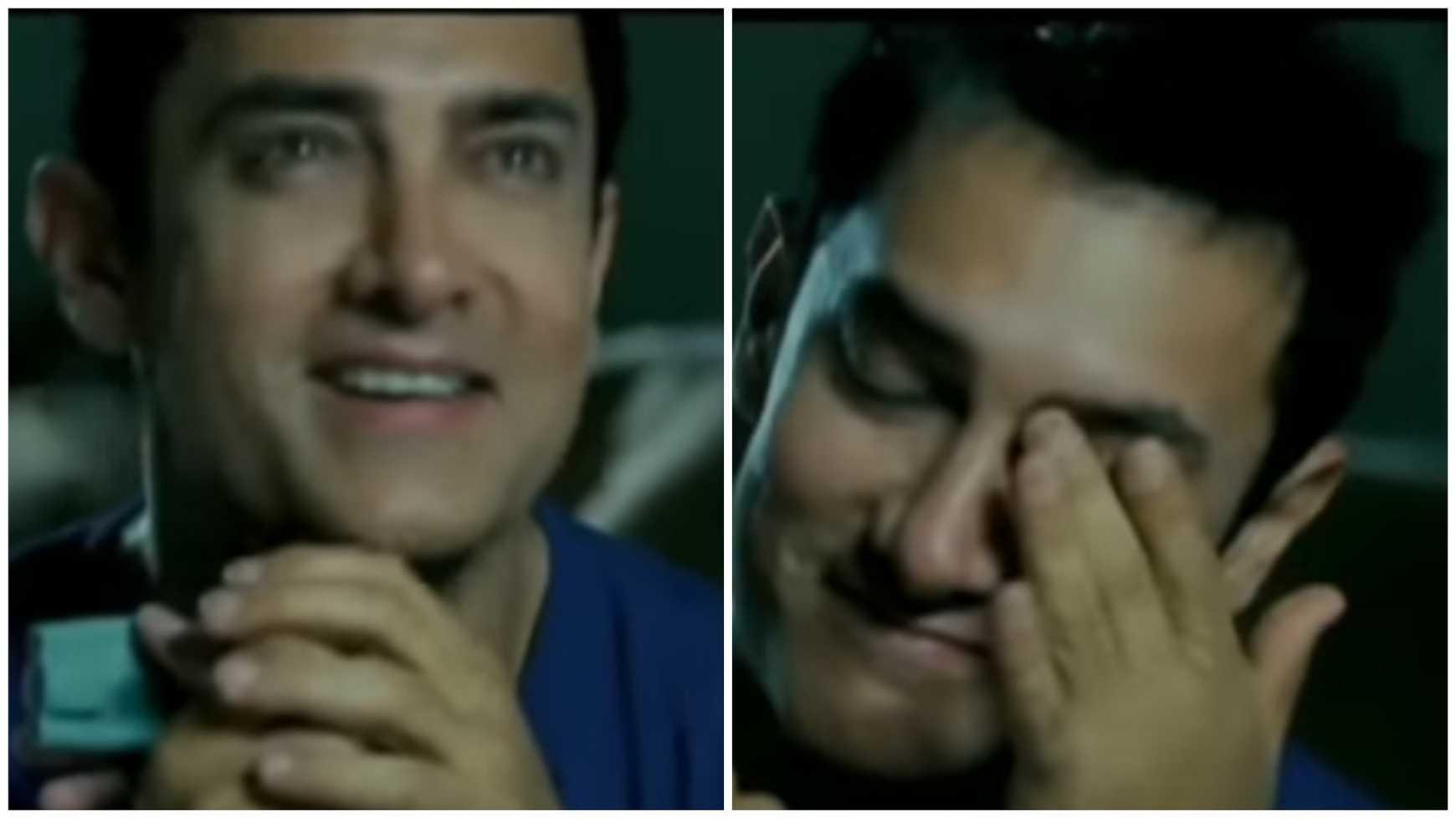 aamir khan smiling vs crying meme template 3 idiots