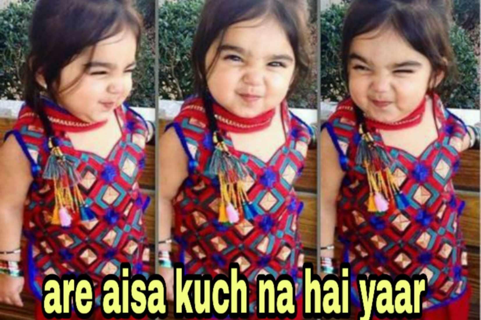 are aisa kuch nahi hai yar cute child meme template