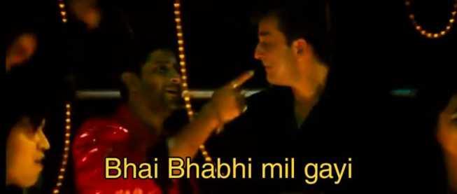 bhai bhabhi mil gayi munna bhai meme template