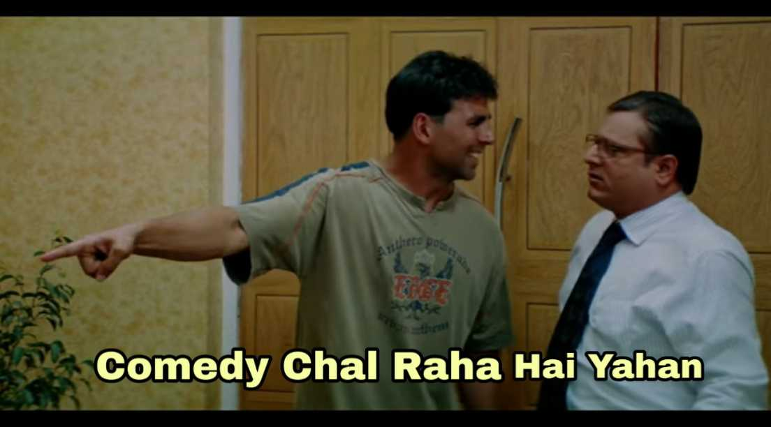comedy chal raha hai yahan garam masala