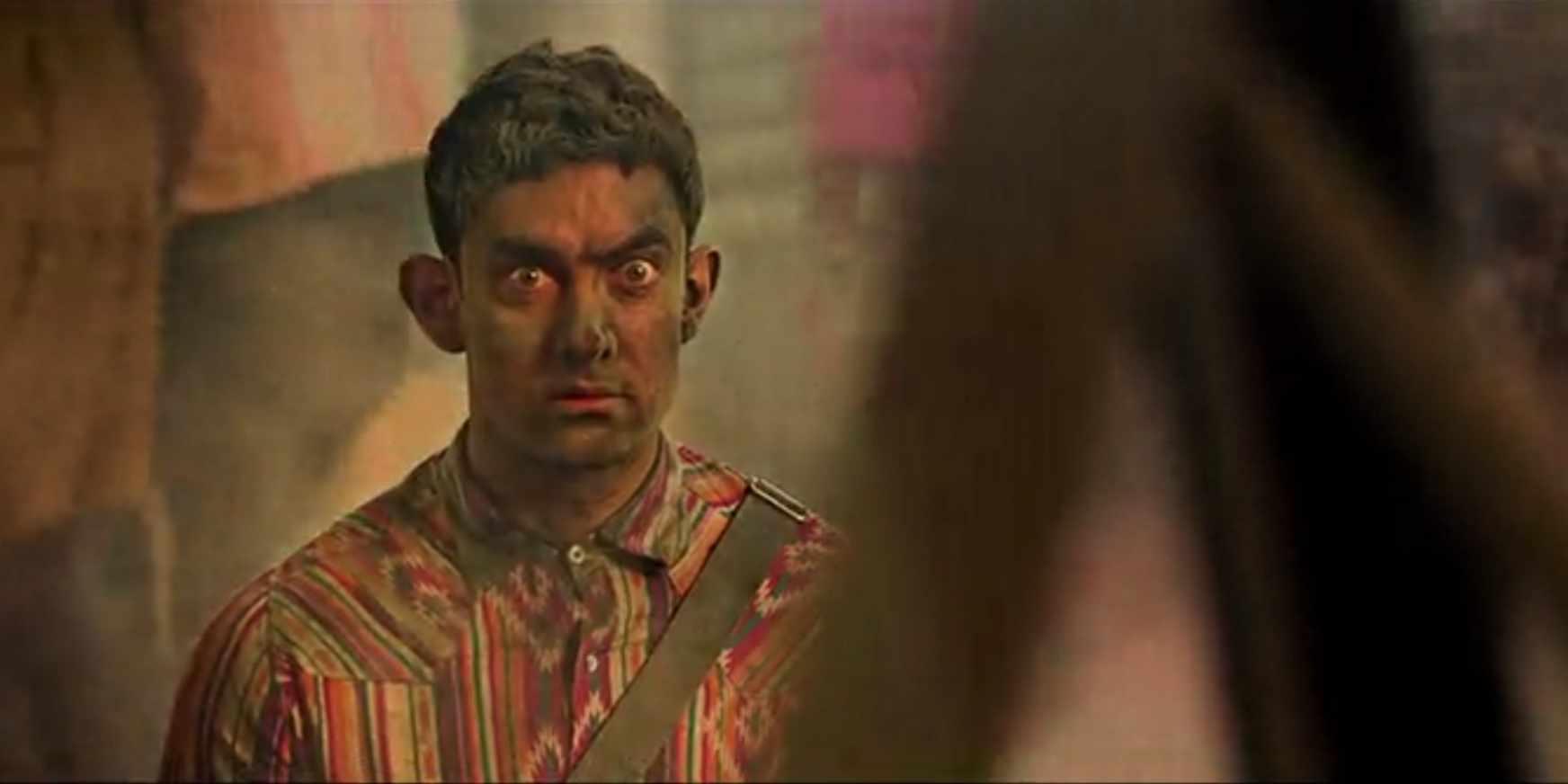 dirty black aamir khan pk scene meme template