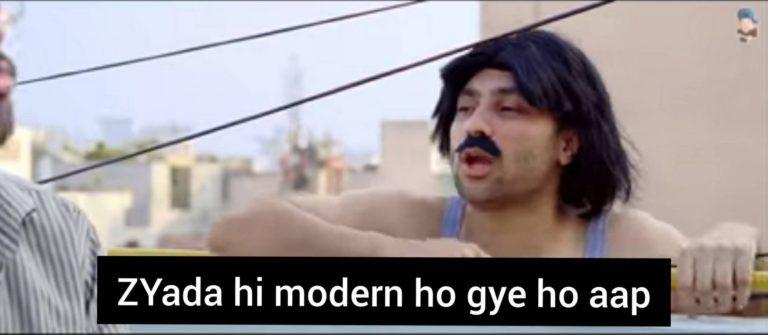 jyada hi modern ho gye ho aap harsh beniwal meme template