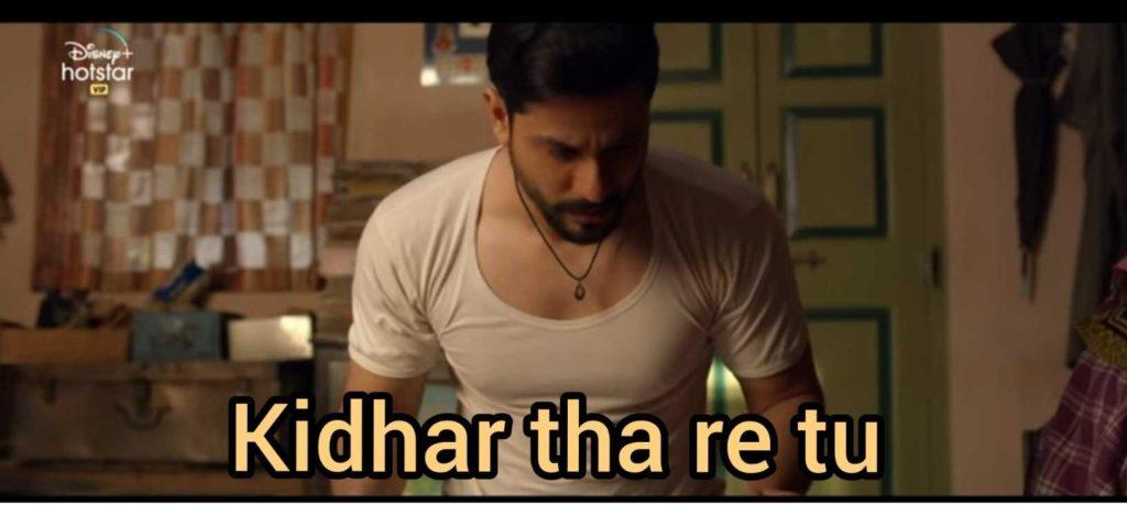 kidhar tha re tu lootcase meme template