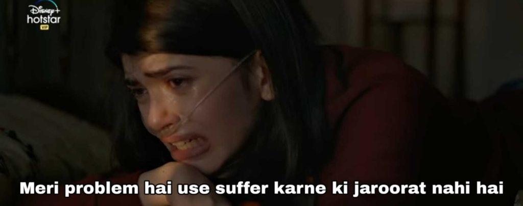 meri problem hai use suffer karne ki jarurat nahi dil bechara sushant singh rajput meme template