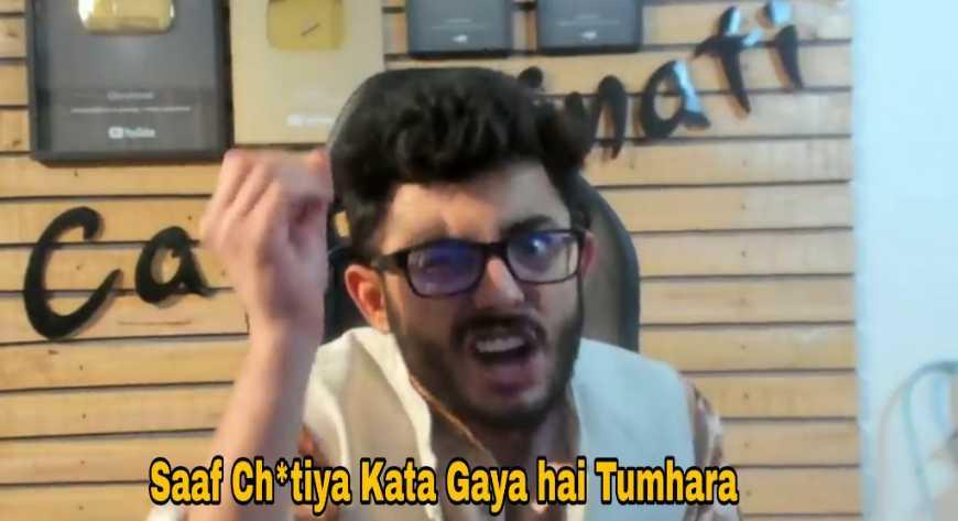 saaf chutiya kata gaya hai tumhara carryminati meme template