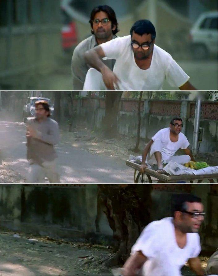 shyam pushing babu bhaiya phir Hera pheri meme templates