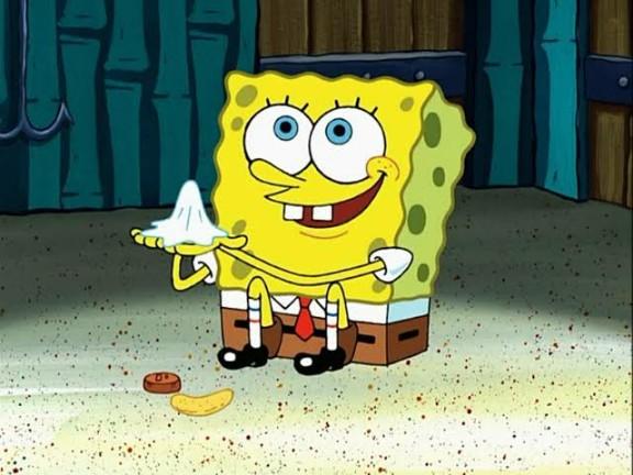 spongebob napkin meme template