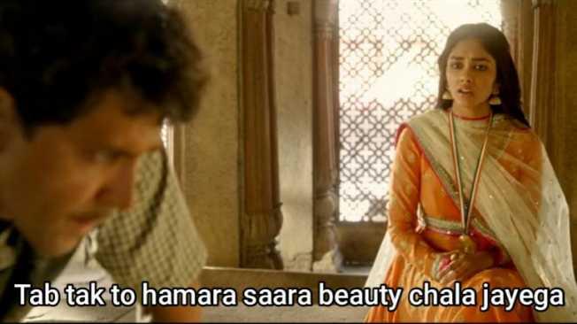 tab tak toh hamara sara beauty chala jayega super 30 meme template