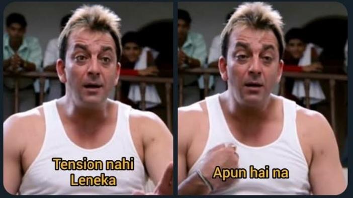 tension nahi lene ka apun hai na munna bhai mbbs meme template